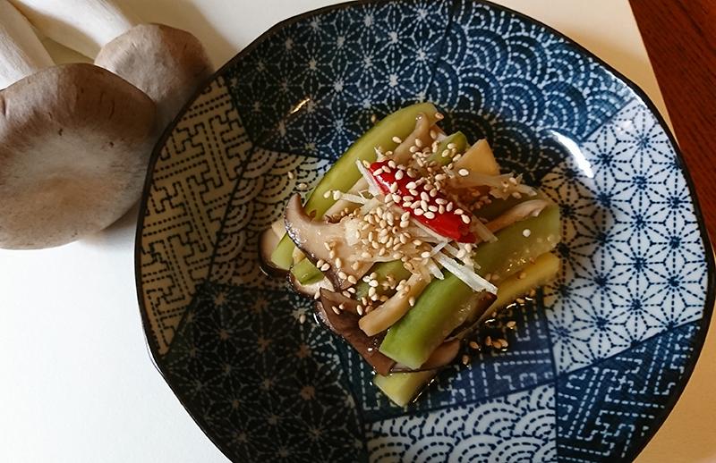 薬膳時短レシピ・「エリンギの中華浸し」