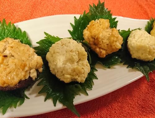 薬膳時短レシピ・「しいたけと豆腐の合わせ焼」